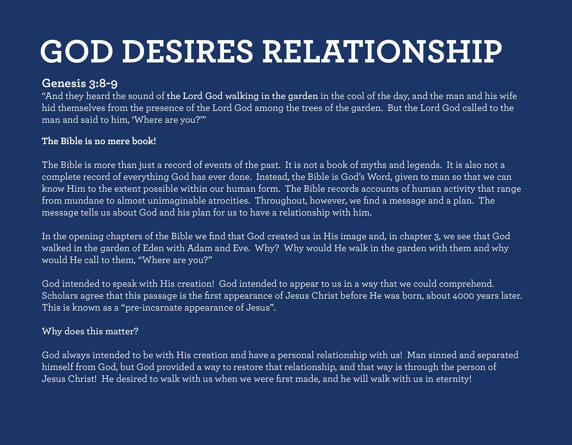 What God Desires