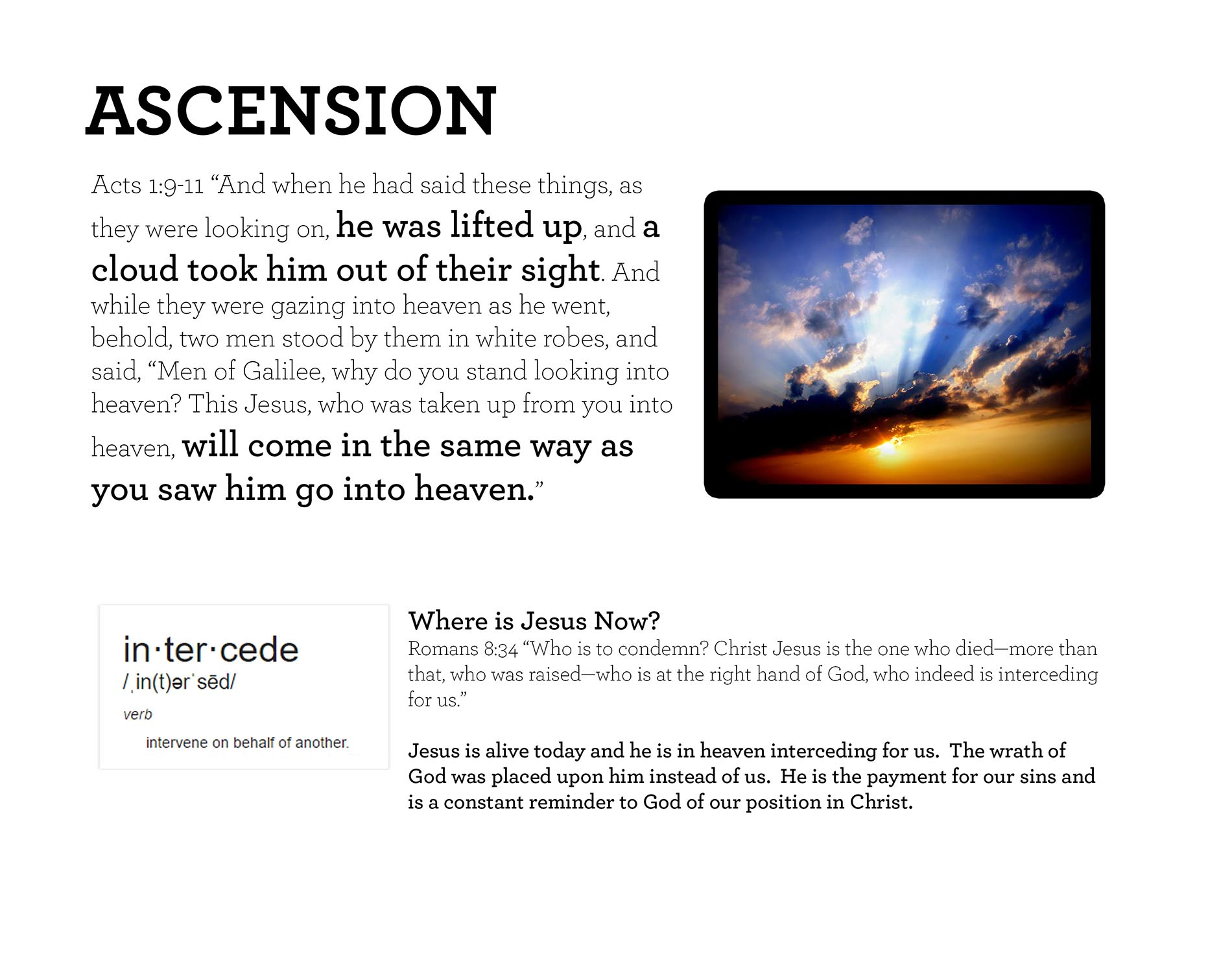 ASCENSION Acts 1:9-11